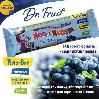 Батончик Маша-Медведь фрукт.Dr.Frut 25 г зрение 3+