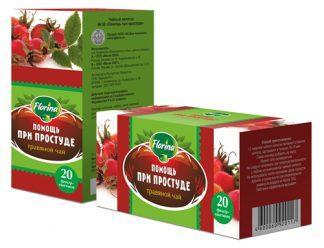 Чай травяной 1,5 №20 Florina помощ при простуде
