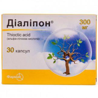 Диалипон 300 мг №30 капс.