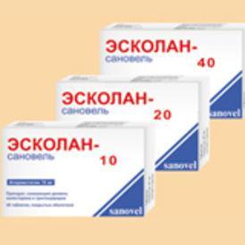 Эсколан-сановель 40 мг №30 табл.