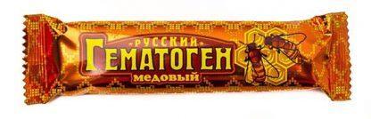 """Гематоген""""Русский""""медовый 40 гр."""