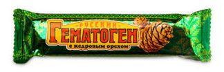 """Гематоген""""Русский""""с кедровым орехом"""