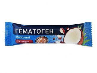 """Гематоген""""Русский""""с кокосом в шок.40 гр."""