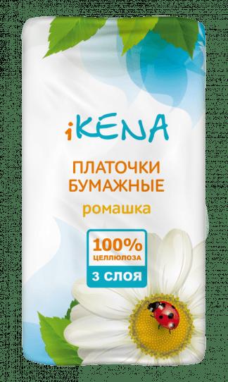Икена платочки бумажные №10 ромашка