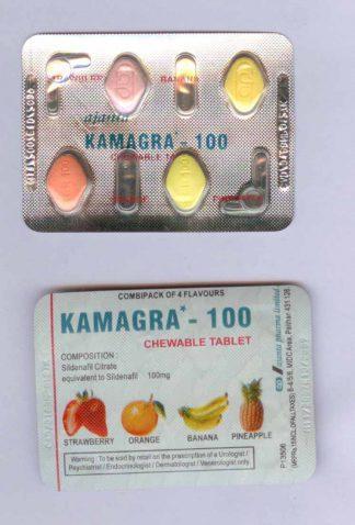 Камагра 100 мг №4 жеват.таб.ананас. мята