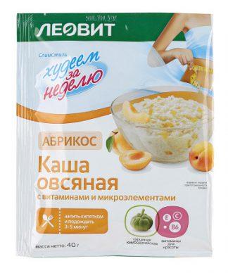 Каша овсяная Леовит абрикос 40г