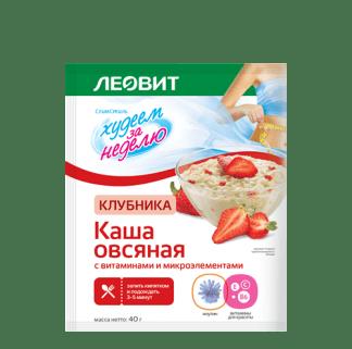 Каша овсяная Леовит клубника 40г