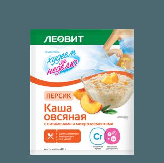 Каша овсяная Леовит персик 40г