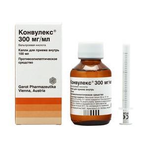 Конвулекс 300 мг/мл 100 мл капли