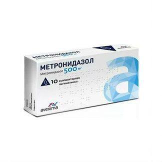 Метронидазол 500 мг № 10 супп.