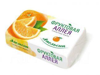 Мыло Фруктовая аллея апельсин