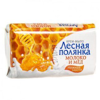Мыло-крем Лесная полянка 90 г молоко и мед
