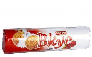 Печенье Султан вкус с клубничным  кремом  80гр
