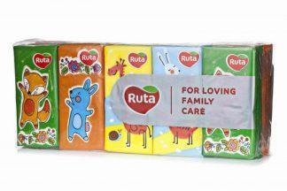 Платочки Ruta бумаж.носовые детские №10