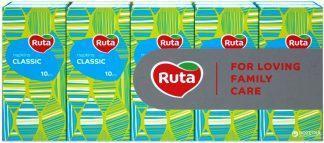 Платочки Ruta бумаж.носовые классик №10