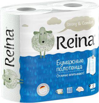 Полотенца бумажные Reina  2сл. 2шт