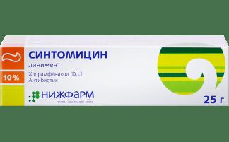 Синтомицина лин-т 10% 25.0 в туб