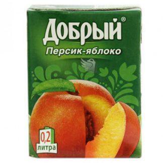 Сок Добрый 0,2л персик яблоко