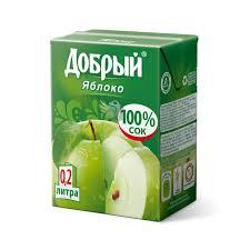 Сок Добрый 0,2л яблоко