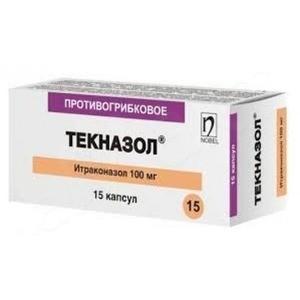 Текназол 100 мг №15