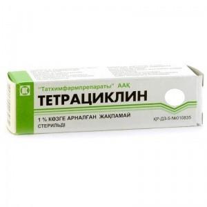 Тетрациклин гл мазь 1%-5 г