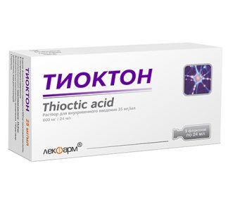 Тиоктон 600мг/24мл 25мл №5 р-р