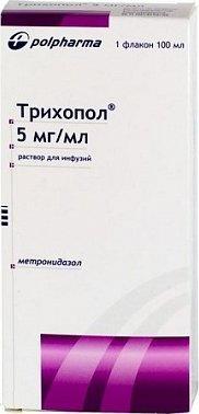 Трихопол 0.5%-100.0 инф.р-р