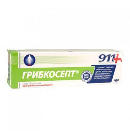911 гель для рук и ног Грибкосепт 100 мл
