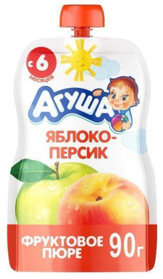 """Пюре фруктовое """"Агуша"""" 90 г.яблоко-персик"""