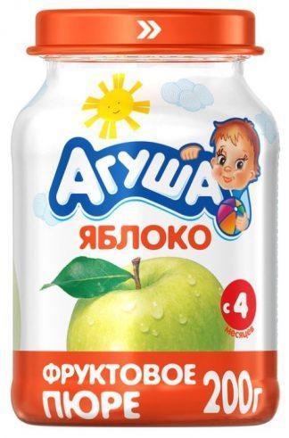 """Пюре фруктовое """"Агуша""""200 г.яблоко"""