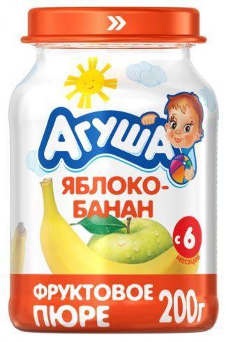 """Пюре фруктовое """"Агуша""""200 г.яблоко-банан"""