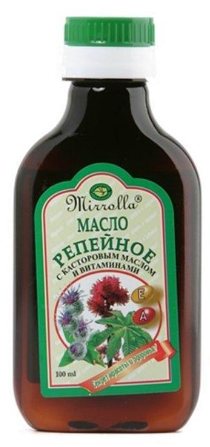 Масло репейное Мирролла с касторовым маслом  100мл