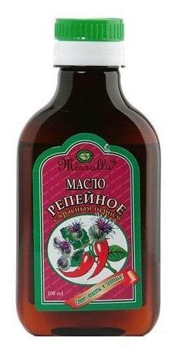Масло репейное Мирролла с красным перцем 100мл