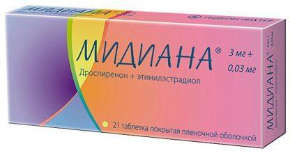 Мидиана 3 мг/0,03 мг №21 табл.