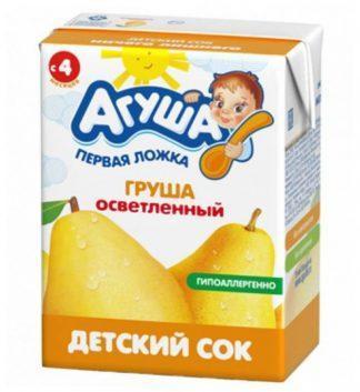 """Сок """"Агуша"""" 200 мл груша осветленное"""