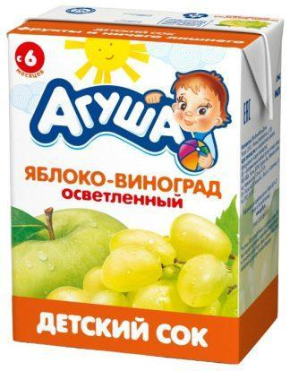 "Сок ""Агуша"" 200 мл яблоко с виноград"