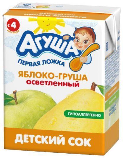 """Сок """"Агуша"""" 200 мл яблоко-груша осве"""