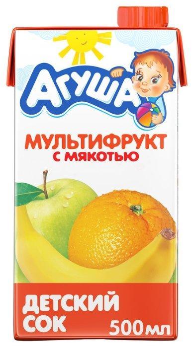 """Сок """"Агуша"""" 500 мл мультифрукт с мякотью"""