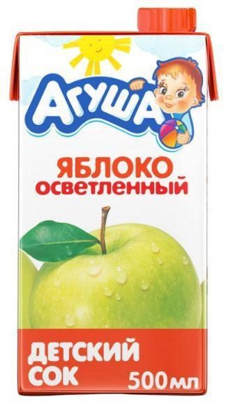 """Сок """"Агуша"""" 500 мл яблоко осветленное"""