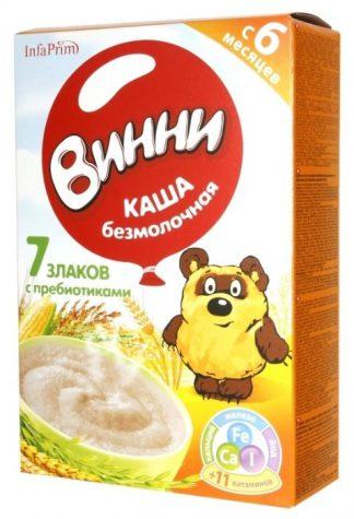 Каша Винни б/мол.7злаков преб.220гр с 6 мес