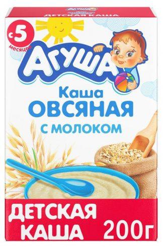 """Каша детская """"Агуша"""" овсяная с молоком 200 гр."""