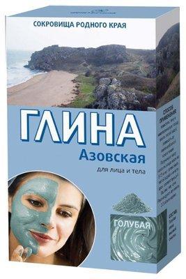 Глина Азовская 100г тонизирующая,голубая.