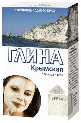 Глина Крымская 100г очищающая,белая.